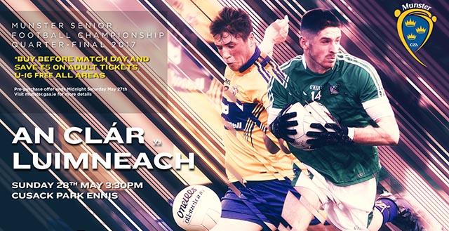 Munster Senior Football Quarter-Final – Clare 1-13 Limerick 1-12