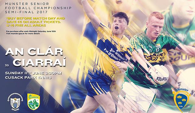 Munster Senior Football Semi-Final – Kerry 1-18 Clare 1-12