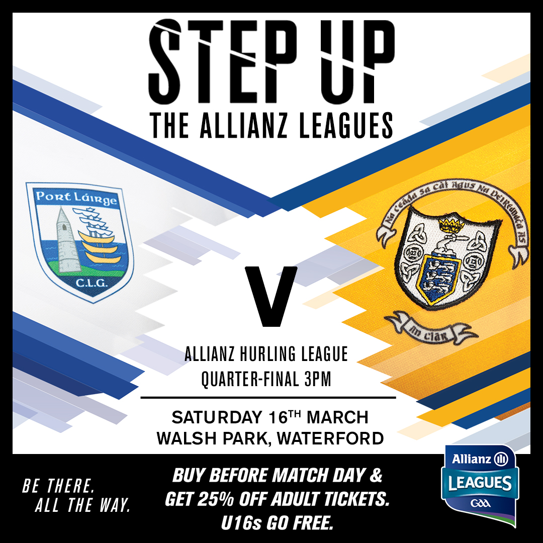 Allianz Hurling League Division 1 Quarter-Final – Waterford 0-31 Clare 1-14