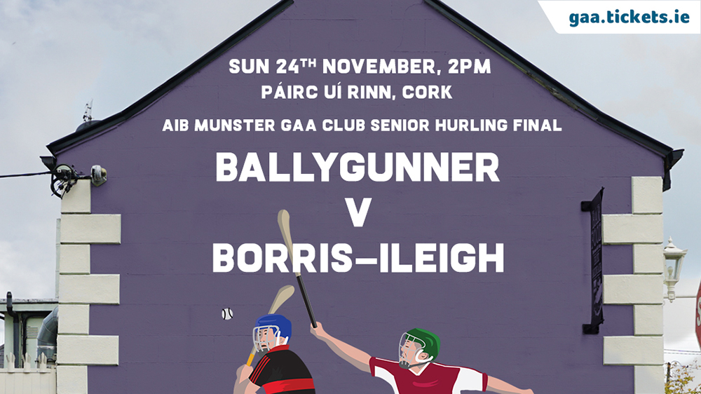 2019 AIB Munster Club Senior Hurling Championship Final – Ballygunner (Waterford) v Borris-Ileigh (Tipperary)