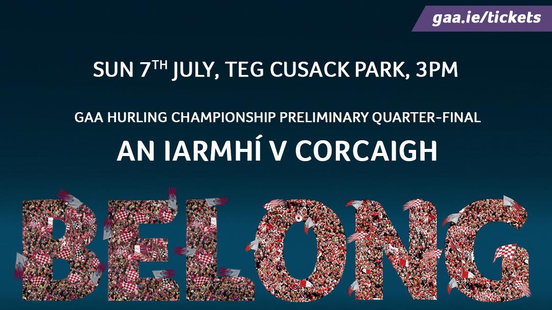 2019 GAA Hurling All Ireland Championship Preliminary Quarter Final – Cork 1-40 Westmeath 0-20