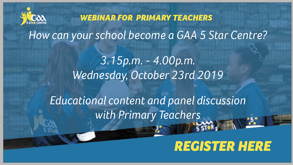 GAA Webinar for Primary Teachers