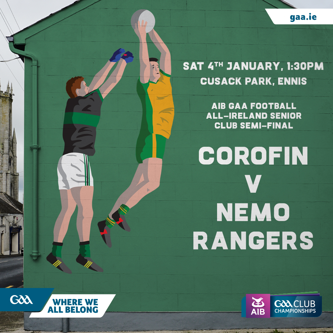 2020 AIB GAA Football All-Ireland Senior Club Championship Semi-Final – Corofin (Galway) 1-10 Nemo Rangers (Cork) 0-7