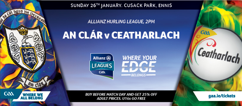 2020 Allianz Hurling League Division 1 Group B – Clare 1-27 Carlow 0-14