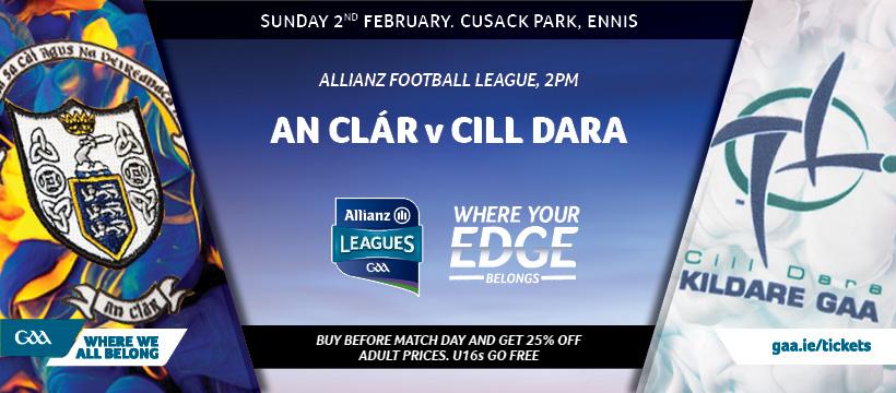 2020 Allianz Football League Division 2 – Clare 0-11 Kildare 0-10