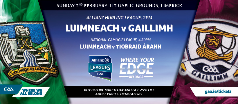 2020 Allianz Hurling League Division 1 Group A – Limerick 1-19 Galway 0-14