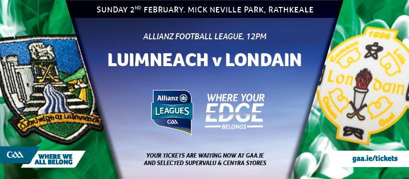 2020 Allianz Football League Division 4 – Limerick 0-8 London 0-7
