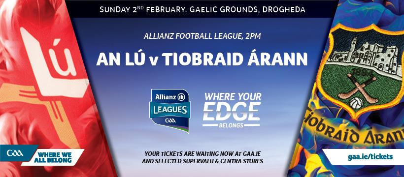 2020 Allianz Football League Division 3 – Tipperary 0-11 Louth 1-7