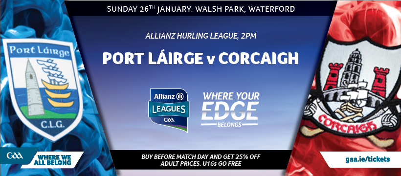 2020 Allianz Hurling League Division 1 Group A – Waterford 1-24 Cork 3-17