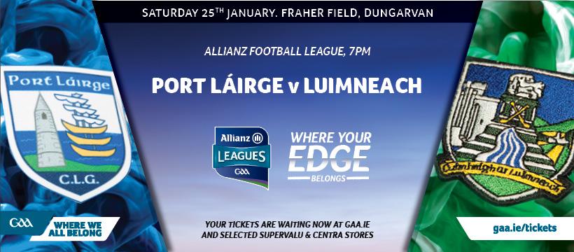 2020 Allianz Football League Division 4 – Limerick 1-10 Waterford 0-10