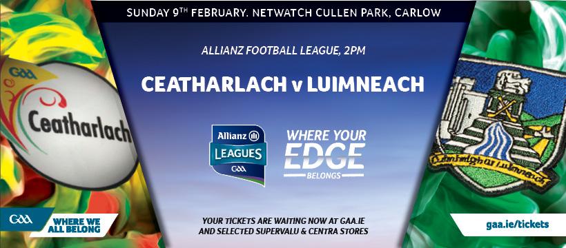 2020 Allianz Football League Division 4 – Limerick 1-7 Carlow 0-9