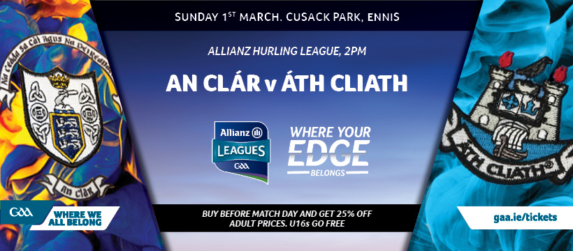 2020 Allianz Hurling League Division 1 – Clare 0-27 Dublin 1-15