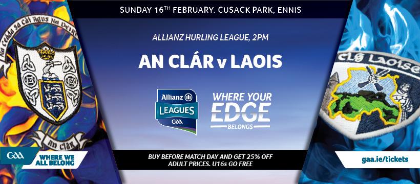 2020 Allianz Hurling League Division 1 – Clare 0-17 Laois 0-9