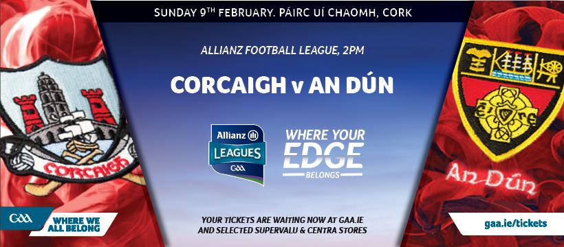 2020 Allianz Football League Division 3 – Cork 0-16 Down 1-8