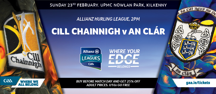 2020 Allianz Hurling League Division 1B – Kilkenny 1-19 Clare 3-13