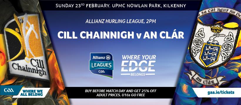 2020 Allianz Hurling League Division 1B – Kilkenny 1-19 Clare 3-13
