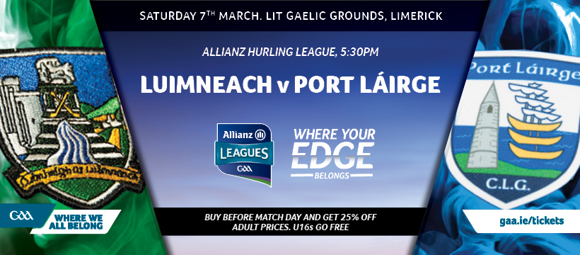 2020 Allianz Hurling League Division 1 – Limerick 1-21 Waterford 1-17