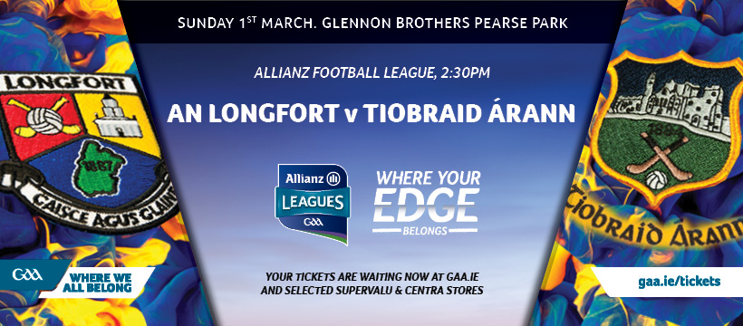 2020 Allianz Football League Division 3 – Longford 3-12 Tipperary 3-7