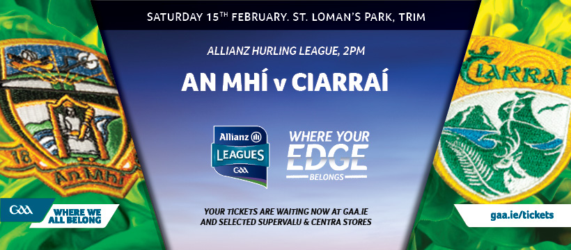 2020 Allianz Hurling League Division 2A – Kerry 0-13 Meath 0-8