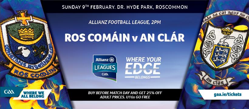 2020 Allianz Football League Division 2 – Roscommon 1-8 Clare 0-4