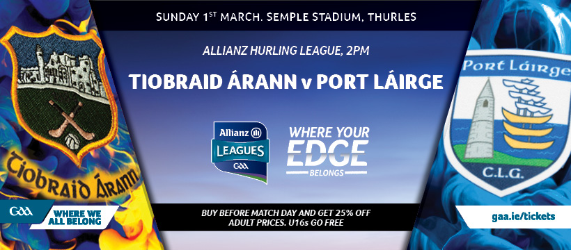 2020 Allianz Hurling League Division 1 – Tipperary 0-24 Waterford 2-16