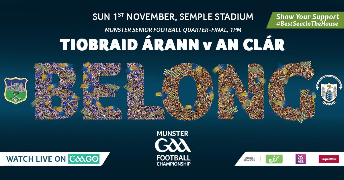 2020 Munster GAA Senior Football Championship Quarter-Final – Clare v Tipperary
