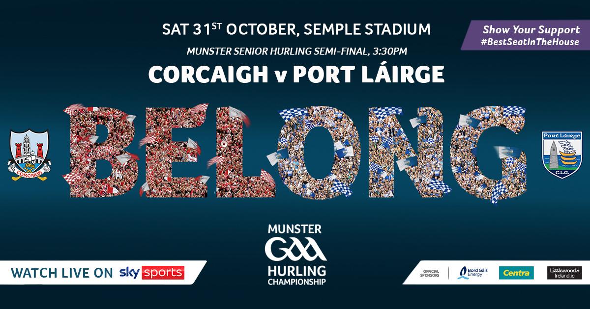 2020 Munster GAA Senior Hurling Championship Semi-Final – Cork v Waterford