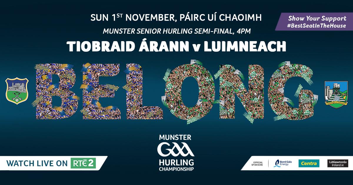 2020 Munster GAA Senior Hurling Championship Semi-Final – Tipperary v Limerick